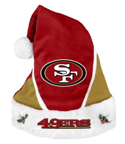 大統領ピルフォアマンSan Francisco 49ers 2014 NFL Color Block Santa Hat Chapeau