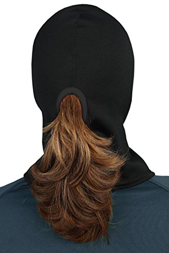 TrailHeads Power Ponytail Balaclava - black / black