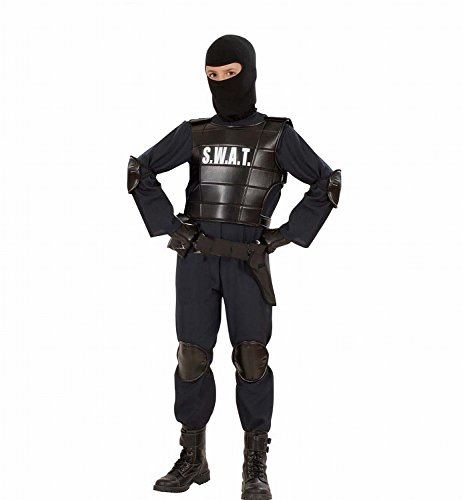 [8-10 Years Children's Swat Officer Costume] (Swat Vest Costume)