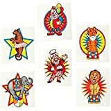 Pack of 12 - Circus Big Top Temporary Tattoos - Great Party Loot Bag Fillers