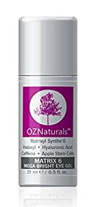 OZNaturals Eye Gel For Wrinkles, Dark Circles & Puffiness - The Most Effective Anti Aging Eye Cream With Hyaluronic Acid For Moisturizing & Brightening Your Tired Eyes. Get Your Youthful Glow Back!