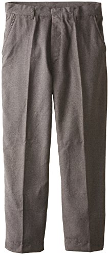 Grey Pant Flannel (Smith's American Big Boys' Husky Flat Front Flannel Pant, Grey, 16)