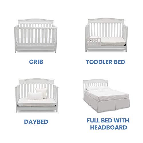 41ylgW9lvTL - Delta Children Emery 4-in-1 Convertible Baby Crib, White