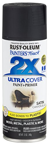 (Rust-Oleum 249844-6 PK Painter's Touch 2X Ultra Cover, 12 oz, Canyon Black)