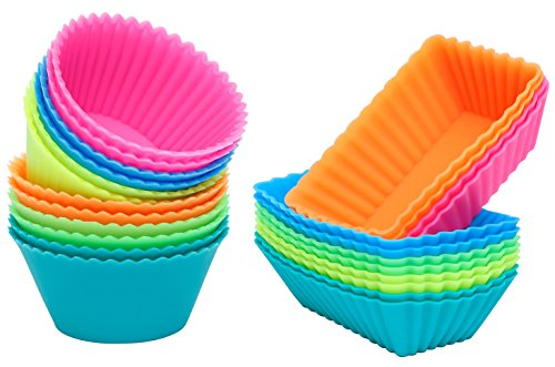 IPOW SC01 Cupcake Baking Cups Reusable Food-Grade BPA
