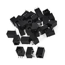 uxcell® 30pcs DC Power Jacks Sockets Black for 1.1mm x 3.5mm Connector DIY
