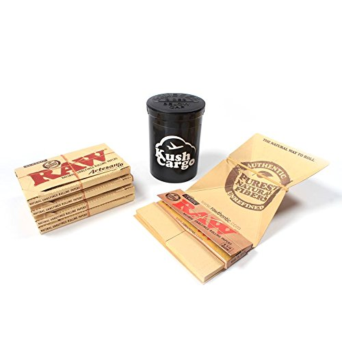 RAW Artesano 1 1/4 Rolling Papers (4 Packs) with KC Pop Top by RAW