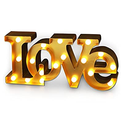BRIGHT ZEAL Large LED Marquee Sign Letters (6hr Timer) -Lighted Letters for Decor LOVE Marquee Light -Light Up LOVE Sign for Wall Decor for Bedroom Decor -Letter Signs Home Decor Clearance Living Room