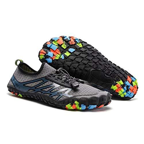 Bopika Water Shoes Sports Quick Dry Barefoot Shoes Diving Swim Surf Aqua Walking Beach for Mens Womens (8.5 M US Men, - Wg Waters