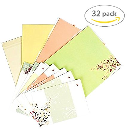 Amazon 32 cute letter writing paper letter sets with 8 32 cute letter writing paper letter sets with 8 envelopewriting stationery paperassorted spiritdancerdesigns Images