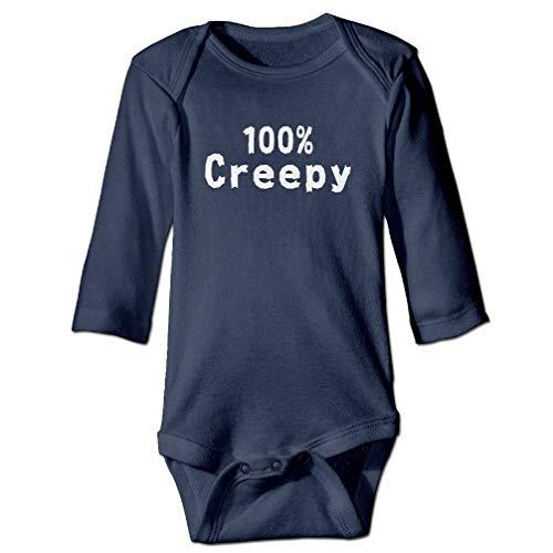 SKYAKLJA 100% Creepy Funny Halloween Baby Onesie Bodysuit Navy]()