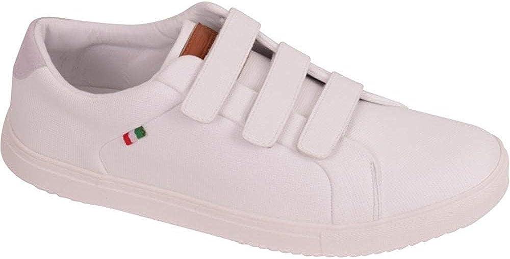 D555 Hombre sin Cordones Zapatillas Grande King Talla Calzado Zapatos, Deporte Acolchada Zapatillas Cierre Adhesivo Correa Cierre Trote Correr Gimnasio: Amazon.es: Zapatos y complementos