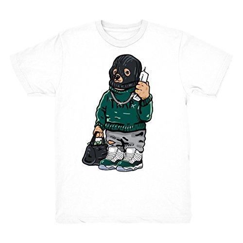 Sneaker Match 11 Low Easter Shirt Trap Bear Shirt Match Jordan 11 Low Easter Sneakers (Easter Green T-shirt)