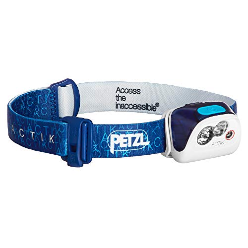 PETZL - ACTIK Headlamp, 300 Lumens, Active Lighting, Blue