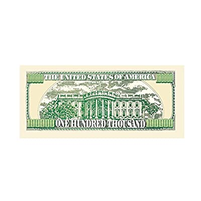American Art Classics $100,000.00 One Hundred Thousand Dollar Casino Party Money in Protector: Toys & Games