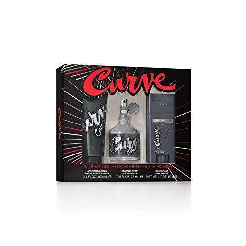 Curve Crush Men's Gift Set, Cologne Spray, After Shave Balm & Deodorant Stick