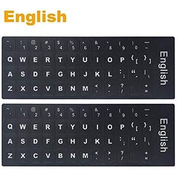 Amazon Replacement English Us Keyboard Stickers On Black