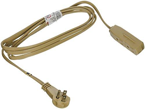 slimline 2254 flat plug extension cord 3 wire beige 8 foot no tax free ship ebay. Black Bedroom Furniture Sets. Home Design Ideas