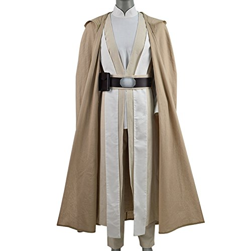 TISEA Men's Skywalker Jedi Luke Cosplay Costume Halloween Outfit Ver.2 (S, Full Set) for $<!--$119.99-->