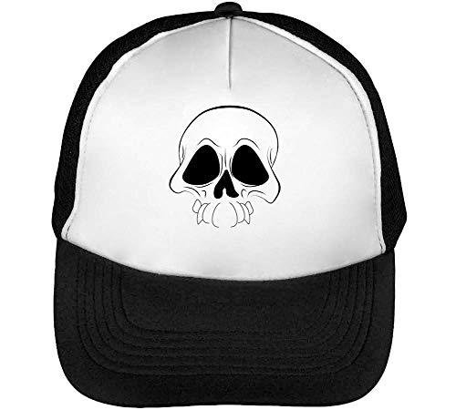 Skull Negro Hombre Gorras Blanco Black Beisbol Snapback TdvXqgx8