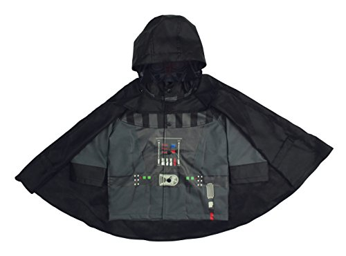 Pop Top Jacket - Western Chief Kids Disney Character Lined Rain Jacket, Star Wars Darth Vader, 6