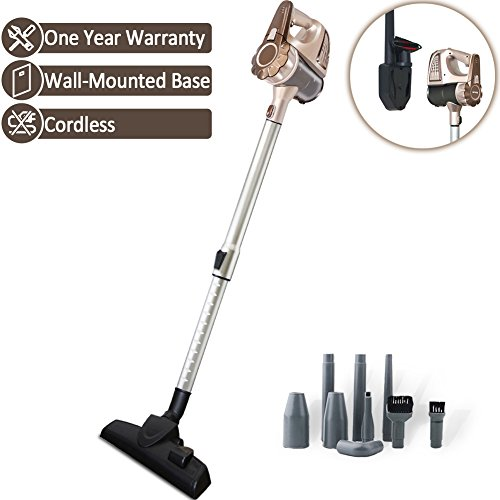 TINTON LIFE Cordless Rechargeable Lightweight Handheld Stick Vacuum Cleaner with Wall-Mounted Ba ...