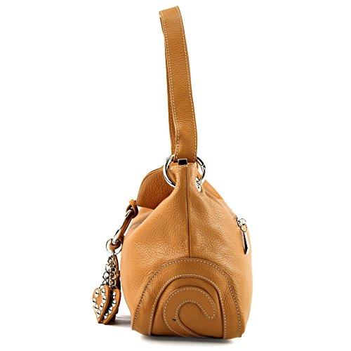 modamoda cuir sac crossover Camel de T10 italien waw6P