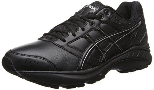 ASICS Women's Gel Foundation 3 2E Walking Shoe,Black/Onyx/Silver,10 2E US