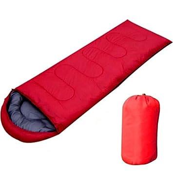 TTYY Saco de dormir al aire libre Autumn Spring Camping Super Light Aventura de viaje portátil , red: Amazon.es: Deportes y aire libre
