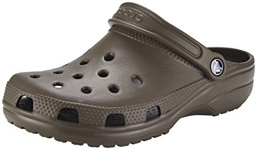 Chocolate Clogs Unisex Men's US Roomy 9 US Women's Crocs 7 Classic IdEqnTwT