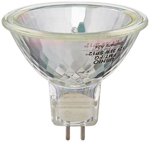 Ushio BC2994 1000551 - 35W Halogen Light Bulb - MR16 - Eurostar - FMT Spot - Glass Face - 5,000 Life Hours - (Fmt Spot)