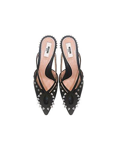 Moschinovrouwen Ma11111c05mq0000 Zwart Lederen Sandalen