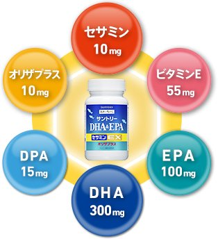Suntory DHA & EPA + Sesamin E 240 capsules (60 days)◆Expedited shipping 3~6Days◆