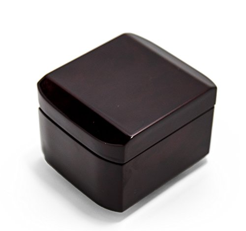 Hi Gloss Modern Petite 18 Note Music Box With Cut Edges - Over 400 Song Choices - Hey Jude (The (Heys Edge Case)