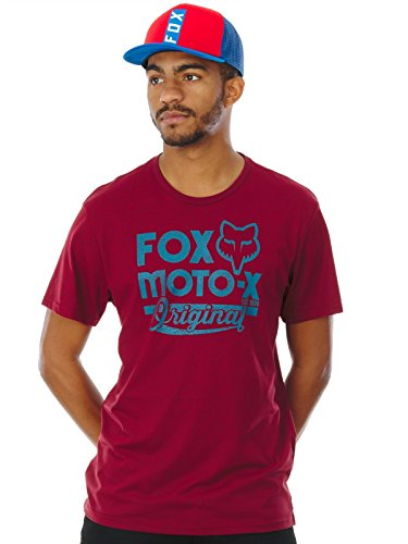 Fox T-Shirt Scripted Rot meliert