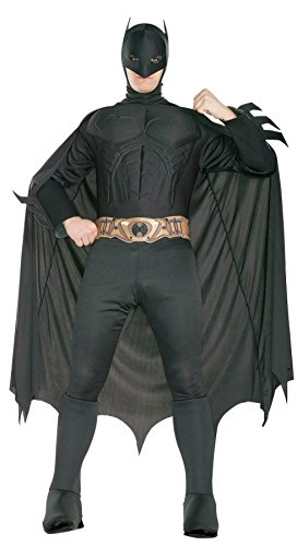 Rubies Mens Batman Deluxe Marvel Superhero Theme Party Costume, Large (42-44) (Plus Size Marvel Costumes)