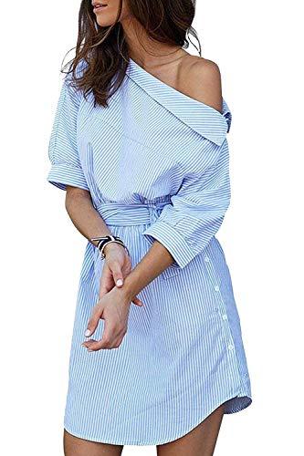 Et Bleu Coloré Femmes Small Une Robe Avec D'été Pour n0P8wOk