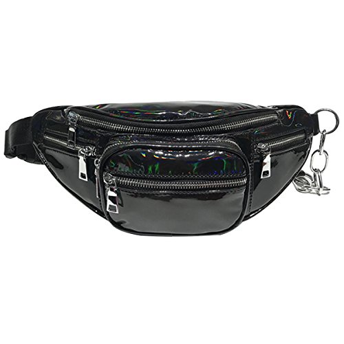 Mily Hologram Laser Waist Bag Personality Chain Waist Bag Bu