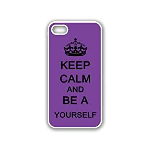 Keep Calm And Be Yourself - Red Wood - Protective Designer BLACK Case - Fits Apple iPhone 5 / 5S
