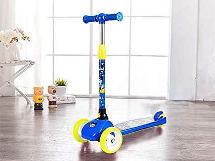 Scooter de niños Scooter Plegable de Tres Ruedas de 3-12 ...