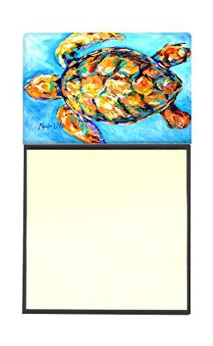 Caroline's Treasures Sand Dance Turtle Refillable Sticky Note Holder or Postit Note Dispenser, 3.25 by 5.5'', Multicolor by Caroline's Treasures (Image #1)