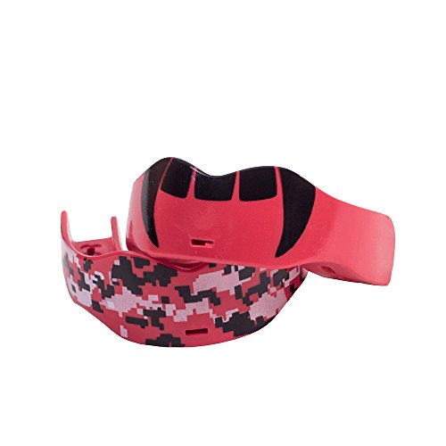 Soldier Sports Fang & Camo Mouthguard, One Size, Red
