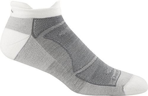 Northfield One Light (Darn Tough Men's No-Show Light Cushion Athletic Socks, ( Style 1722 ) - 6 Pack White/Gray, Large)