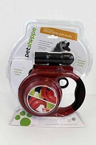 Multi-feature Retractable Pet Leash 16 Ft (40lbs) by PET SHOPPE