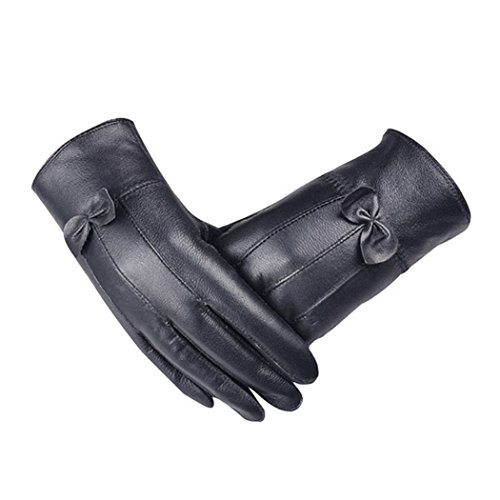 TAORE Women's Leather Touchscreen Gloves Smartphones