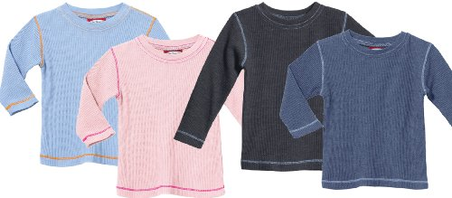 City Threads Big Boys' and Girls' Solid Thermal Tee Tshirt MADE IN USA