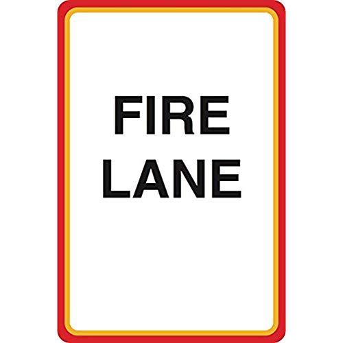 "Diuangfoong Fire Lane Print Street Parking Lot Business Office Aluminum Metal Tin 12""x18"" Sign Plate from Diuangfoong"