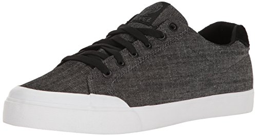 C1RCA Mens AL50R Adrian Lopez Durable Cushion Sole Skate Skateboarding Shoe, Black Denim/White, 6.5 M US