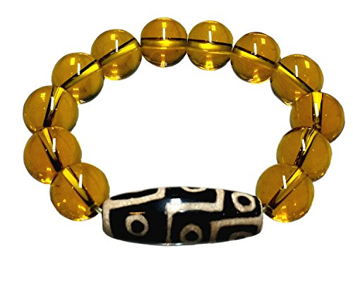 Feng Shui Tibetan Dzi Beads Bracelet for Protection (With a Betterdecor Pounch)