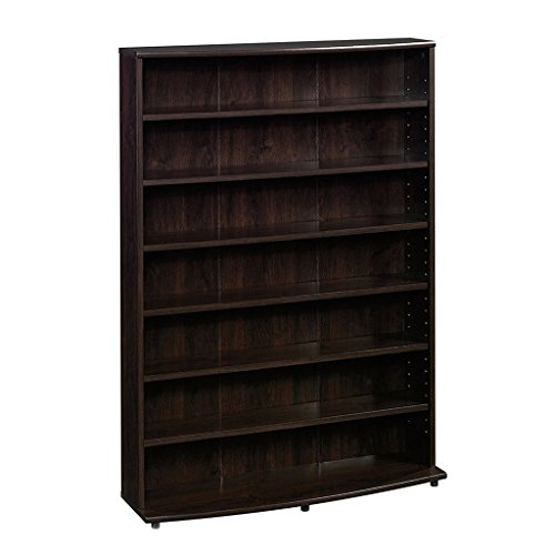 Sauder Multimedia Storage Tower, Cinnamon Cherry Dvd Storage Bookcase
